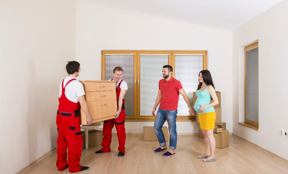Movers in new home